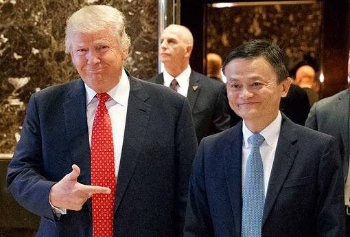 Donald-Trump-Meets-Jack-Ma